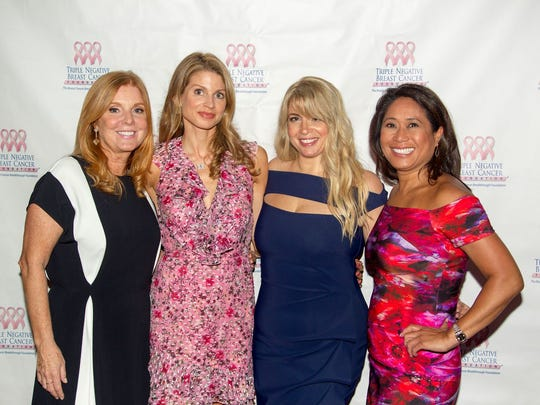 Annie Hausmann, Jen Maxfield, Hayley Dinerman and Nina Pineda. Triple Negative Breast Cancer Foundation held its 2018 Peace, Love, & a Cure in Englewood. Honorees included Eisai, Dr. Melinda Telli, and Noni Sutherland. 05/15/2018
