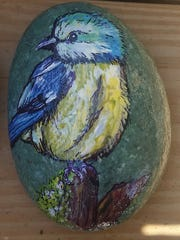This rock was painted by Amy Peacock.