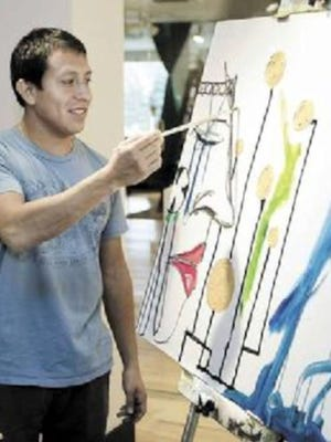 """Inspiration Studios in West Allis gallery will have a showing of paintings by Guatemalan Artist, Ernesto Atkinson, called """"Conversations with Color: What Do You See?"""""""