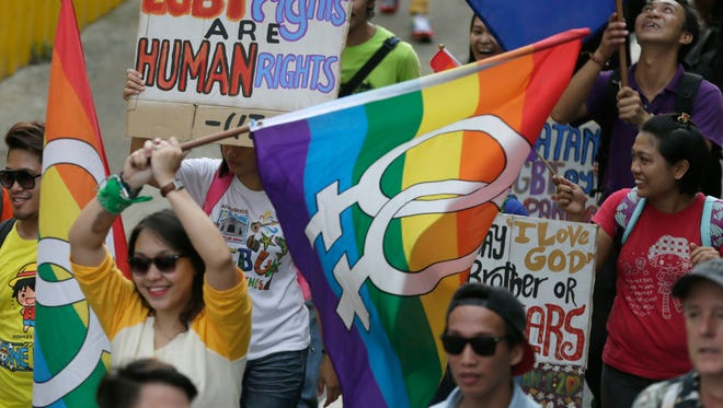 A gay pride rally Saturday, June 27, 2015 in Manilla, Philippines.