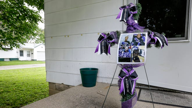 Photos of the four children - Keyana Davis, 11, Keyara Phillips, 9, Kerrielle McDonald, 7, and Kionnie Welch, 5 - who were killed in a November house fire in Flora, Ind.