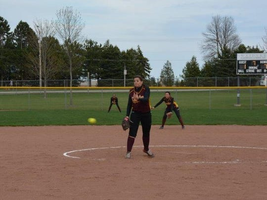 Tori Jonet was the winning pitcher for Luxemburg-Casco on Tuesday.