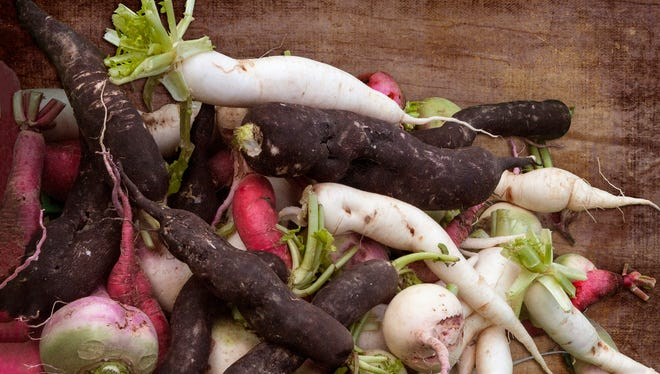 The best time to get root vegetables, like potatoes, carrots, beets and parsnips, is in the winter.