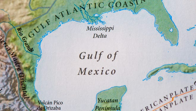 Gulf of Mexico on map.