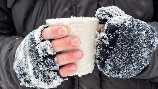 Wear mittens outside in cold weather to protect your hands.