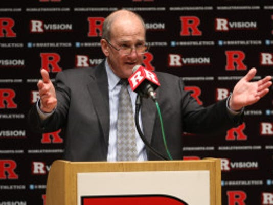 """In an exclusive interview, Rutgers President Robert Barchi said he expects two things from Scarlet Knights athletics once they join the Big Ten on Tuesday: """"That our athletic programs perform at the highest level that they're capable of performing and I expect them to maintain their high-level of academic performance.'' (Photo by Jason Towlen/MyCentralJersey.com)"""