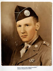 """A 1943 photograph of Martin """"Matty"""" Teahan in Fort"""