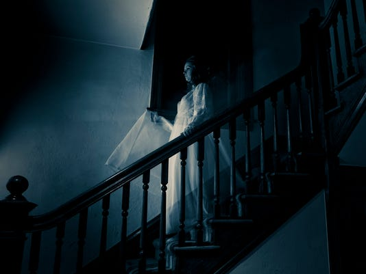 Ghost Woman on Haunted Staircase