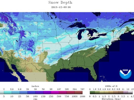 snow depth