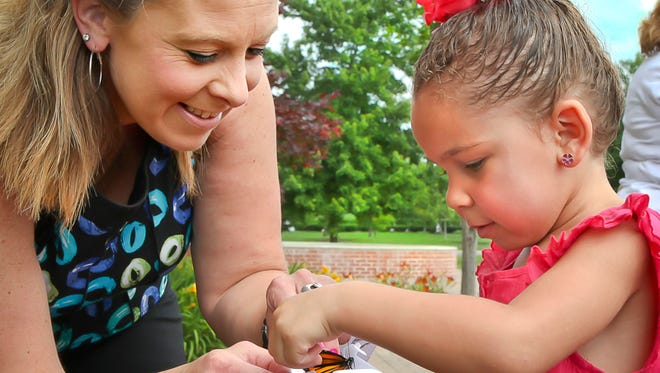 Alive Hospice butterfly release.
