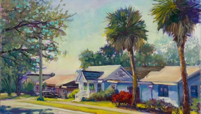 Alex Stankiewicz, known for his plein air paintings, often chooses Brevard scenes for his subjects.
