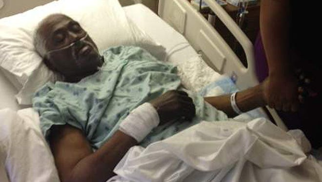 Walter 'Snowball' Williams after waking up in a funeral home in February.