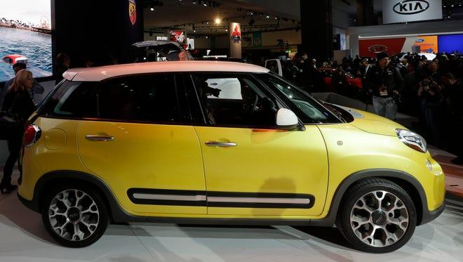 The Fiat 500L is shown at the LA Auto Show in Los Angeles