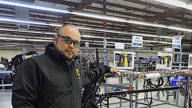 Carlos Apodaca, Plant Manager at Compass Manufacturing Services in Deming, has been working to establish a new factory across the border in Palomas, Chihuahua, Mexico.Apodaca is pictured here at the Deming plant located at 2400 Atlantic Way.