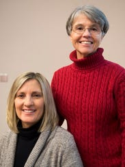 Betsy James, left, and Christine Voisin at UT Medical