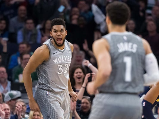 NBA: Denver Nuggets at Minnesota Timberwolves