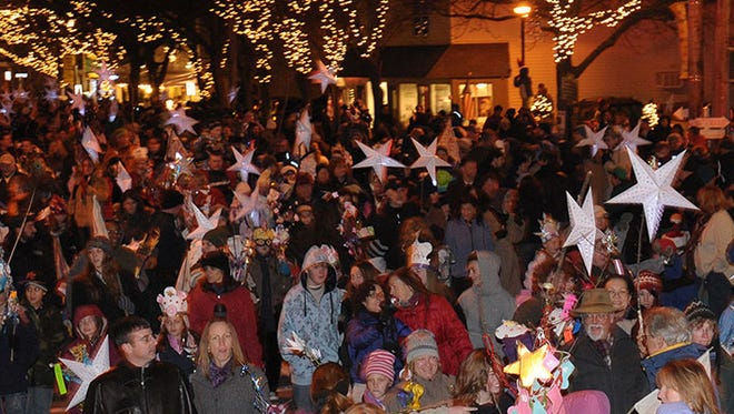 Crowds take to the streets in the Village of Rhinebeck for a past Sinterklaas event. This year's festival is Dec. 3.