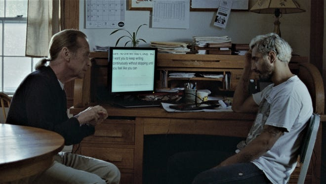 Joe (Paul Raci) tries to give advice to Ruben (Riz Ahmed).