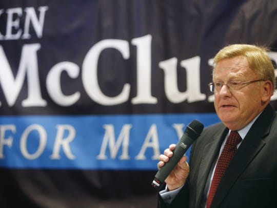 Councilman Ken McClure announces his candidacy for mayor of Springfield in August.