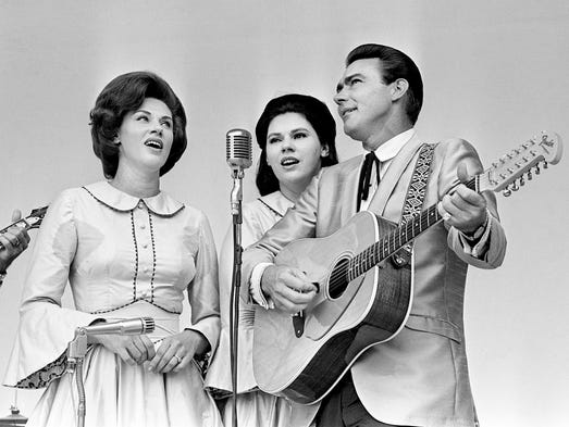 Bonnie, left, Maxine and Jim Ed of The Browns thrills