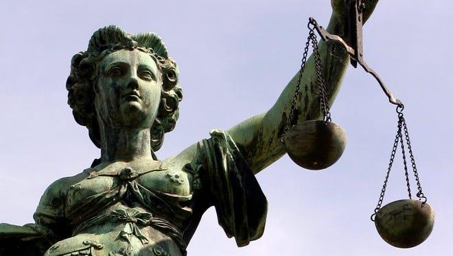 A statue of lady justice.
