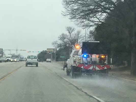txdot treating roads in abilene area in case of freezing weather