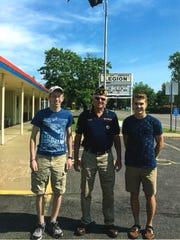 Josh Roberts, left, and Noah Kramer, right, attended the 2016 Boys State at Southwest Minnesota State University, Marshall.