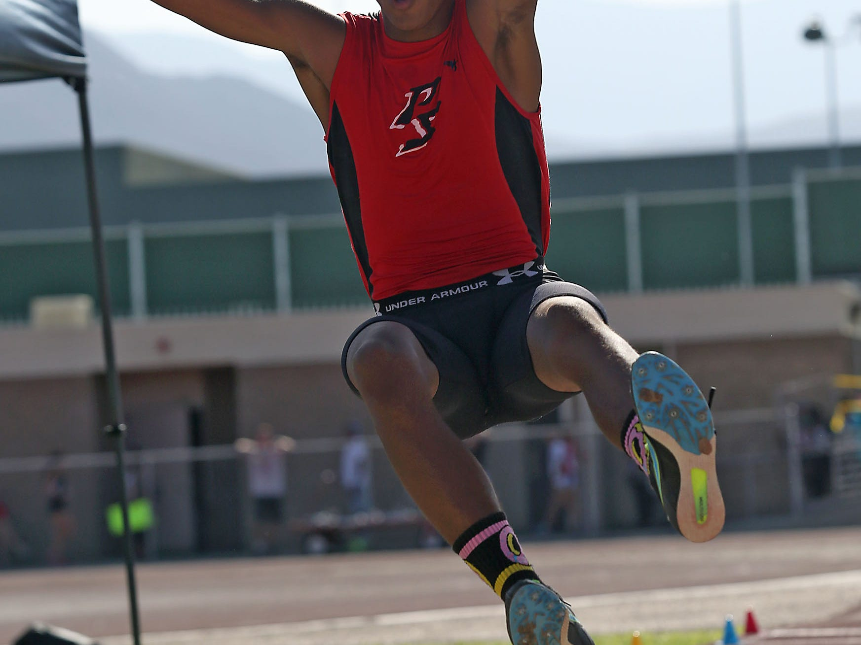 Palm Springs' Ricky Wright, pictured last season, medaled in the seeded triple jump at the Mt. Sac Invitational on Saturday, finishing fifth with a jump of 44 feet, one inch.