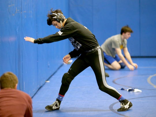 Alec Acfalle of Olympic is ranked fourth in the state among Class 2A 138-pound wrestlers and has earned two tournament titles.