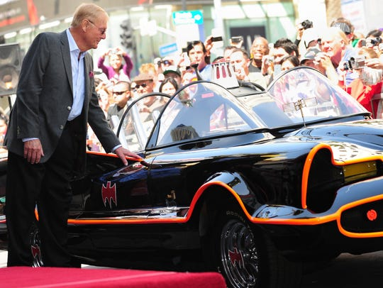 Adam West, attending his 2012 Hollywood Walk of Fame