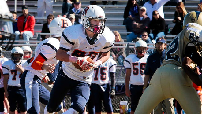 Blackman's Connor Murphy ran for 188 yards and a touchdown in the Flames' 14-0 win over Rock Springs in the Rutherford County Middle School championship game Saturday.