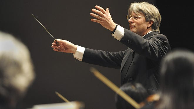 Conductor Timothy Muffitt and the Lansing Symphony Orchestra.