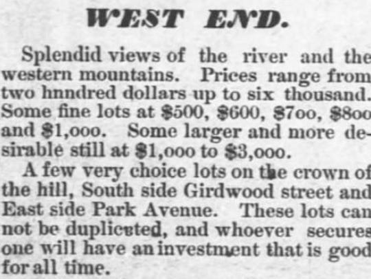 A July 1, 1887 advertisement in the Asheville Citizen