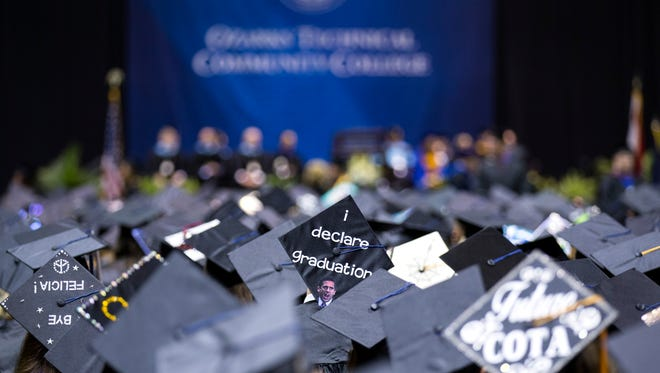 Ozarks Technical Community College, celebrating in 2018, will not have an in-person commencement ceremony in 2020.