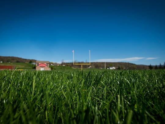 The Champlain Valley Union High School athletic field