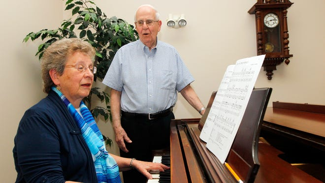 Ralph and Sandy Zecchino of Greece are retiring from the Greece Choral Society, a group they have been with since the group started around 1970.