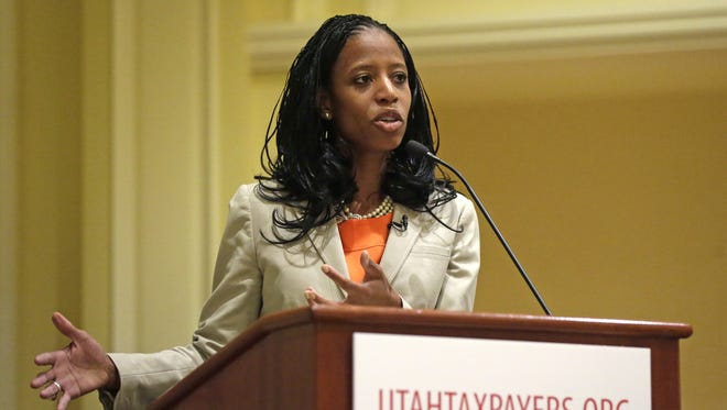 Mia Love of Utah would be the first Republican African-American woman elected to Congress if she wins in November.