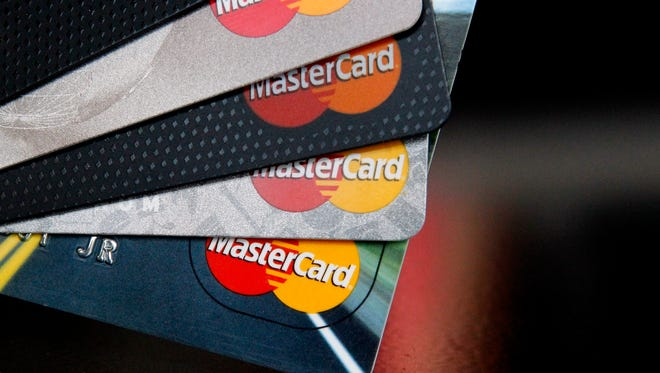 MasterCard credit cards.