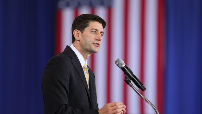 Rep. Paul Ryan campaigns in Ohio as the GOP vice presidential nominee.