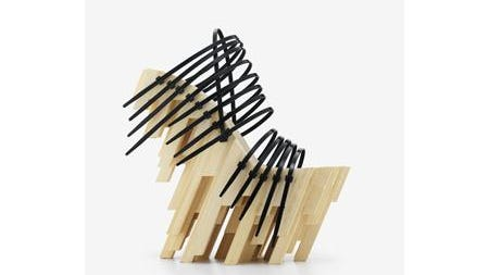 Winde Rienstra, Bamboo Heels, 2012, bamboo, glue, plastic cable ties.