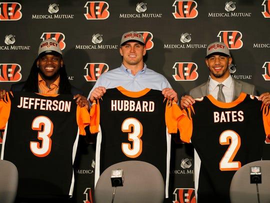New Cincinnati Bengals draft picks (left to right)