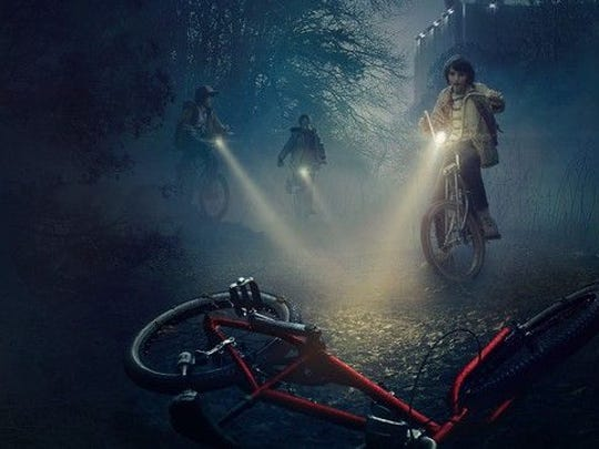 Original content such as the show ?Stranger Things? is driving Netflix?s strong results.   Netflix Three of the main characters from Stranger Things, shining their flashlights over a red bicycle on a misty night.