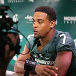 Police: Michigan State safety Demetrious Cox broke cab driver's nose