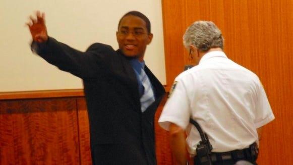 FILE - Etnid Lopez in court in 2014.