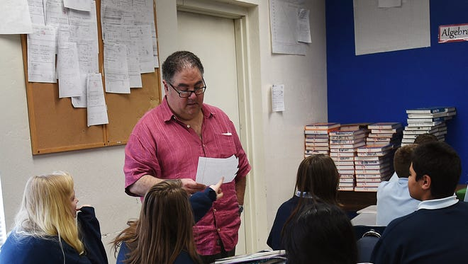 Math instructor Michael Wallack teaches his class at Coral Academy of Science in Reno on Feb. 10, 2015.