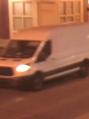 Police sought a suspect who drove this van in connection