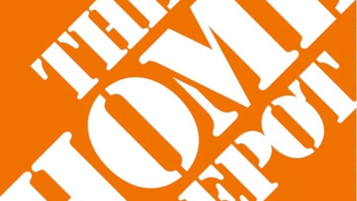 Home depot logo.