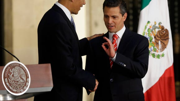 President Obama and Mexico President Enrique Pena Nieto.