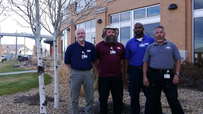From left, Mike Moulton, Steve Howse, Camile Reovan and Ernesto Galvez journeyed to the U.S. Virgin Islands to help with relief from Hurricane Maria.