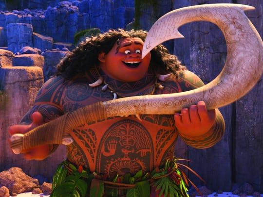Moana and Maui team up to save the people of Motunui